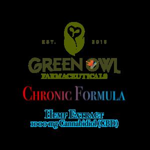 Green Owl Farmacy Chronic Formula containing Hemp Extract with 1000mg CBD