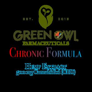 Green Owl Farmacy Chronic Formula containing Hemp Extract with 500mg CBD