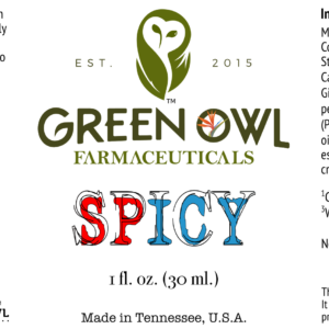 Green Owl Farmacy Spicy roll-on for sore muscles, aches, and pains.